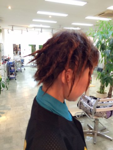 19日ドレッド髪